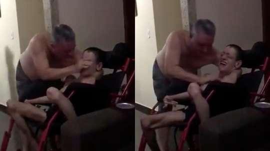 Este chico con parálisis cerebral no pudo contener la emoción. Captura