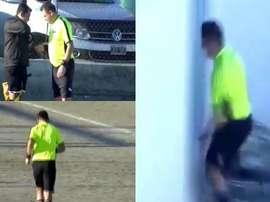 Un arbitre a interrompu un match pour aller aux toilettes ! Capture