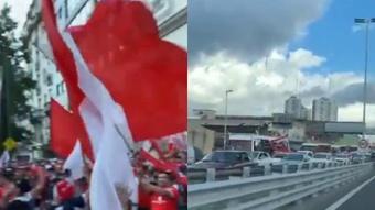 Banderazo a Independiente. Captura