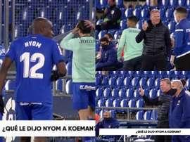 A origem do desentendimento entre Nyom e Koeman. Captura/Vamos
