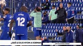 L'origine de l'accrochage entre Nyom et Koeman. capture/Vamos