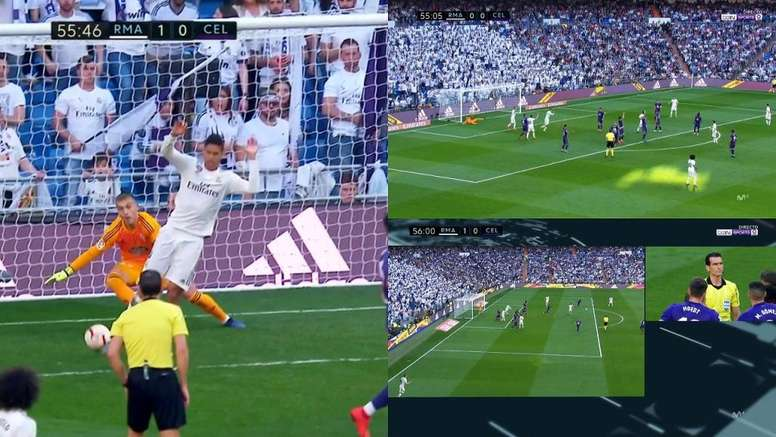 El VAR no concedió el gol al Madrid. Captura/beINSports