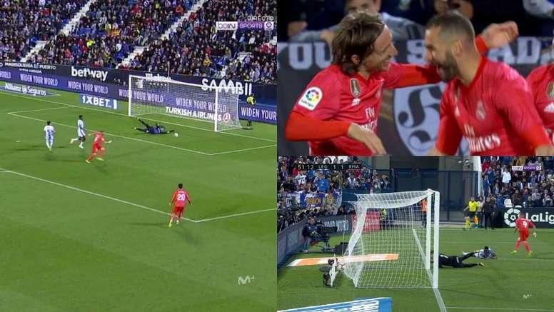 Benzema a égalisé. Capture/beINSports