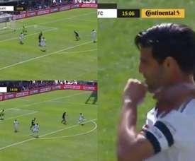 Vela marcó a pesar de fallar un penalti. Captura/LA