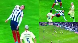 Golazo de chilena de Funes Mori. Captura/FOXSports