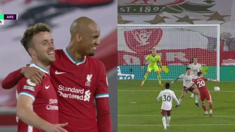 Débuts rêvés en championnat pour Diogo Jota avec Liverpool. DAZN