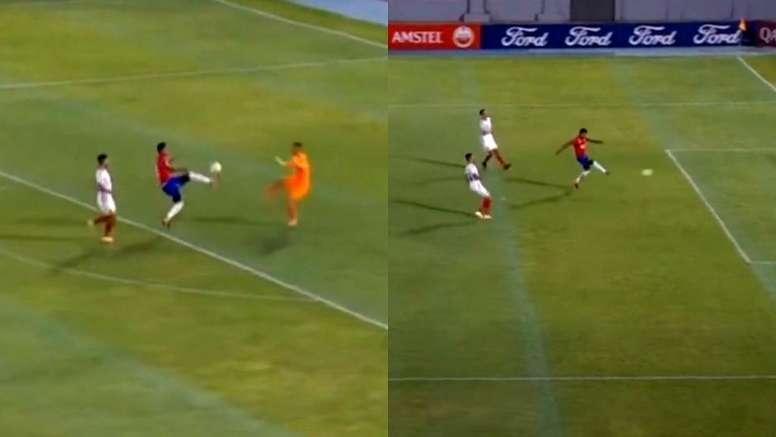 Gilbert Álvarez firmó el primer gol del reinicio de la Libertadores. CONMEBOL/TV
