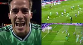 Lucas Vazquez doubled Real Madrid's lead at Zaragoza. Captura/DAZN