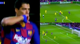Suarez firma il vantaggio al Camp Nou. BeINSports