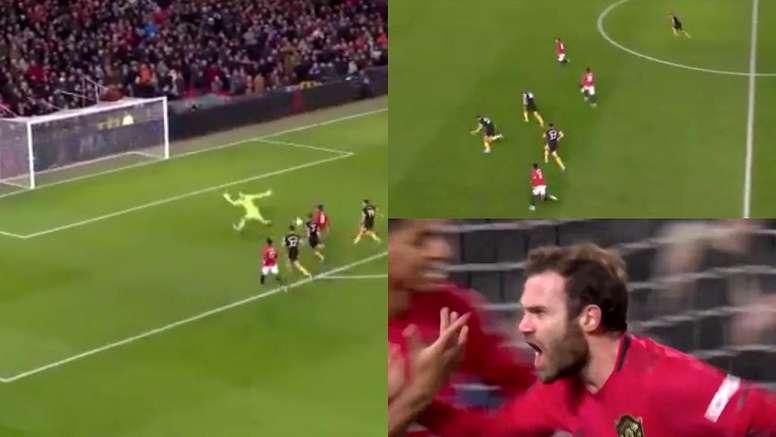 Mata adelantó al United. Captura/FACup