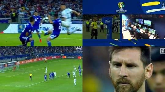 Le but de Messi sur penalty. Capture/DAZN