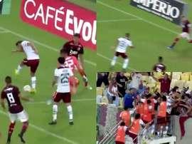 La talonnade de Nenê qui a fait tomber le Flamengo. Capture