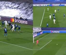 Ramos and Lautaro Martinez scored in just two minutes. Screenshot/MovistarLigadeCampeones