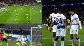Son a donné l'avantage aux siens face à Dortmund. Capture/ MovistarLigadecampeones