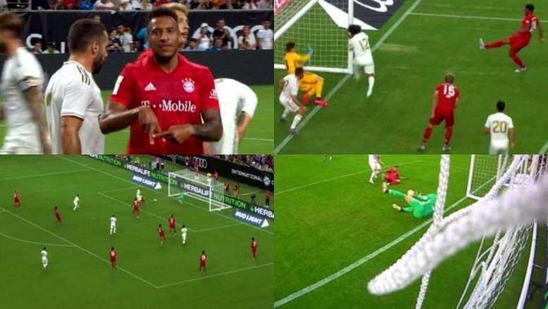 El Bayern dio el primer golpe en el encuentro. Captura/RealMadridTV