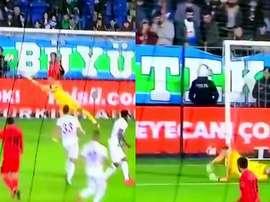El Besiktas le endosó siete goles al Rizespor. Captura/beINSports