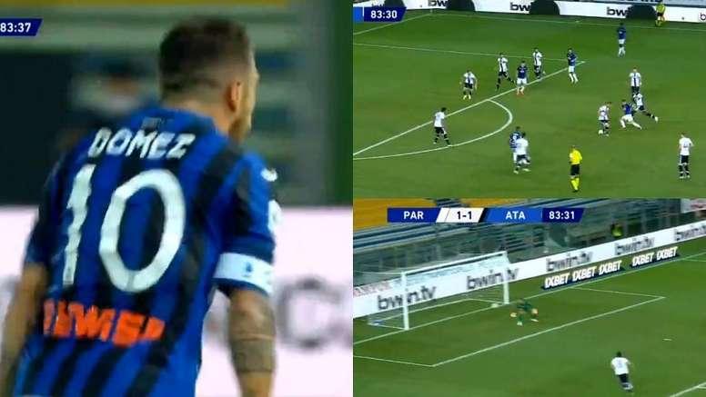 La rete del Papu Gomez contro il Parma. beINSports