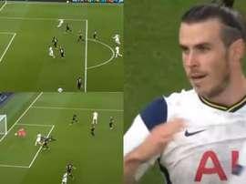 No se puede le pedir más: Bale jugó 61 minutos, dejó detalles y provocó un autogol. Captura