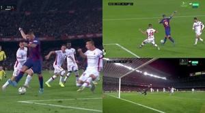 Le but incroyable en talonnade de Suárez qui a fait lever le Camp Nou. Capture/MovsitarLaLiga