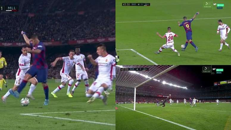 Le but incroyable en talonnade de Suárez qui a fait lever le Camp Nou. Capture/MovsitarLaLiga
