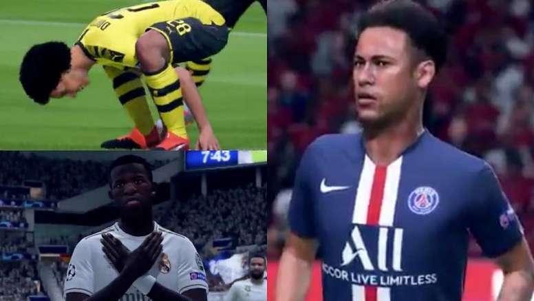 Estas son las nuevas celebraciones en FIFA 20. Montaje/BeSoccer