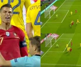 Cristiano Ronaldo não conseguiu marcar no seu regresso. Captura