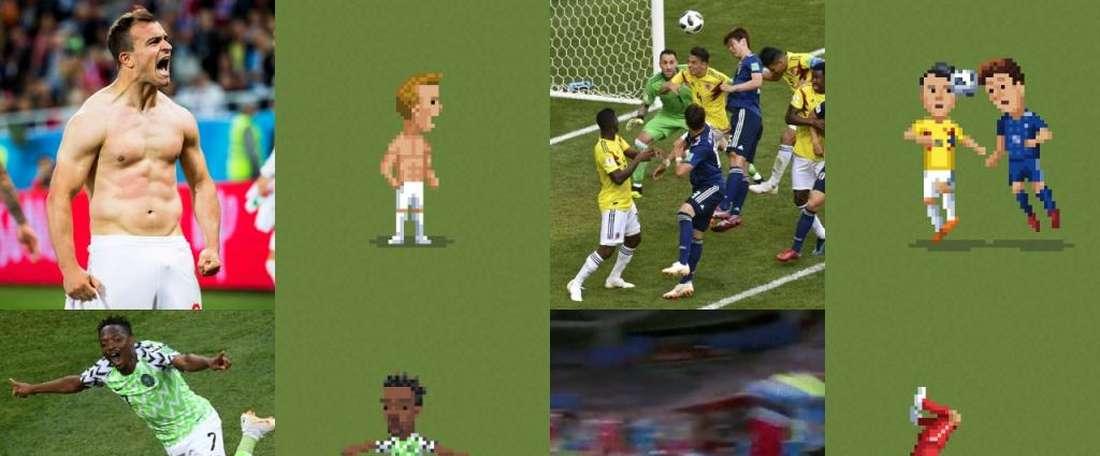 Le montage des images des vraies photos avec le 8bit. Agencias/Capture/8Bitfootball