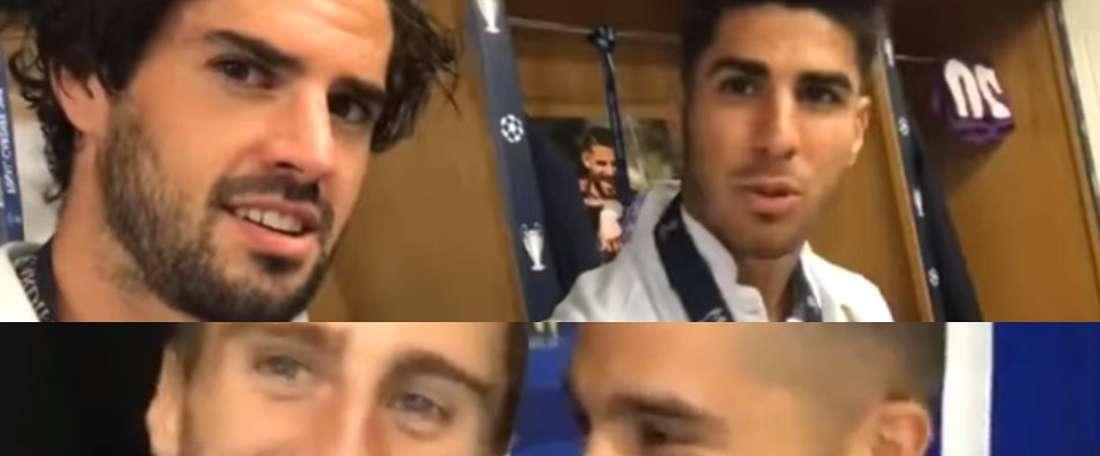Emularon el recordado vídeo entre Isco y Asensio. Twitter