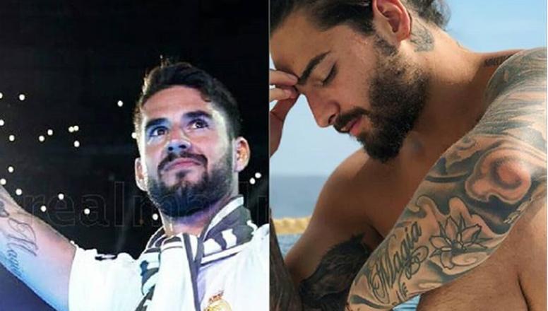 Isco Y Maluma Lucen El Mismo Tatuaje Besoccer
