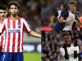 The Champions League's youngest stars. EFE/AFP
