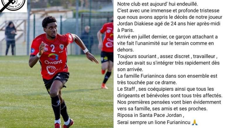 Fallece el ex jugador del PSG Jordan Diakiese. Twitter/ASfagliani