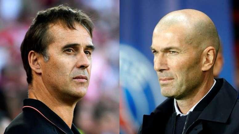 Lopetegui et Zidane, face à face. Montage/BeSoccer