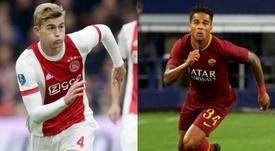 De Ligt y Kluivert son los máximos favoritos. AFP