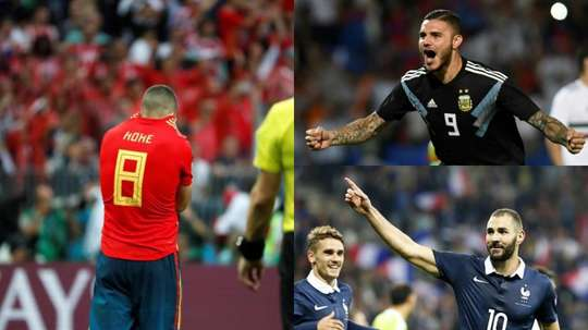 Six big absentees from the international break. EFE/AFP