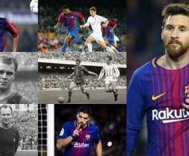 Os 10 maiores artilheiros do Barça na Liga. BeSoccer/FCBarcelona