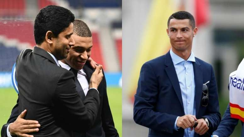 Mbappé calcó el órdago de Cristiano... pero el PSG sí reaccionó. Collage/BeSoccer