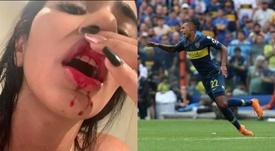 Daniela Cortés, ex-companheira de Sebastián Villa, do Boca Juniors. DaniCortesms/EFE