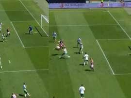 Belotti compensó un penalti fallado con una chilena. Collage/Furkan