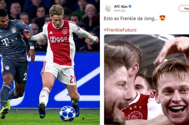 El Ajax ensalzó la figura de De Jong. AFCAjax