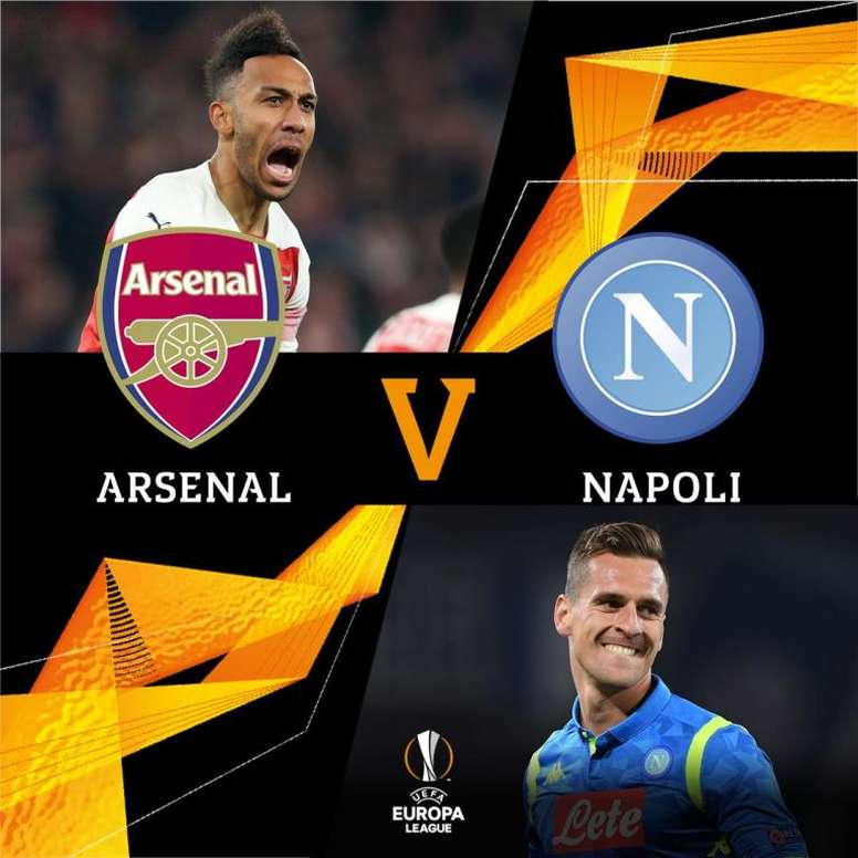 Arsenal-Napoli: encontro de gigantes nas quartas. UEFAEuropaLeague