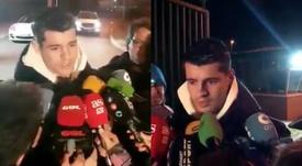 Morata ya está en Madrid. Twitter/elchiringuitotv