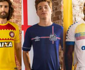 Así son algunas de las nuevas camisetas de la Liga Brasileña. Twitter