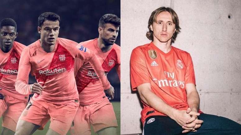 Barcelona e Real Madrid da temporada 2018-19. Barcelona/RealMadrid