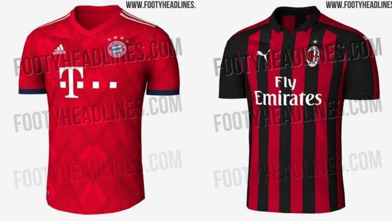 7854637554631 Filtran las camisetas de Bayern y Milan para la próxima campaña ...