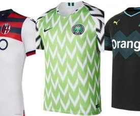 Les maillots du Nigeria, de Bologne et de Marseille ont été choisis. Futbolmania
