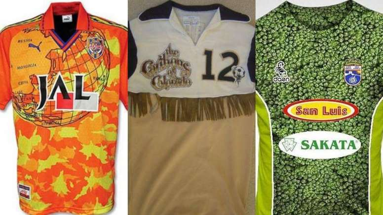 Las 10 camisetas de fútbol más feas de la historia - BeSoccer b1e2bd1ec7339