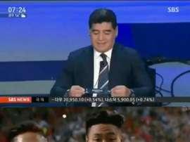 Maradona celebró antes de tiempo, y el karma se la devolvió. BeSoccer/SBS