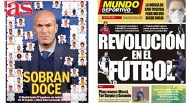 Capas dos jornais espanhóis AS e Mundo Deportivo.