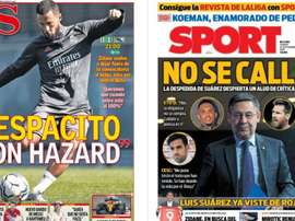 As capas da imprensa esportiva. MD/AS