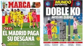As capas da imprensa esportiva de 18 de outubro de 2020. Marca/MundoDeportivo